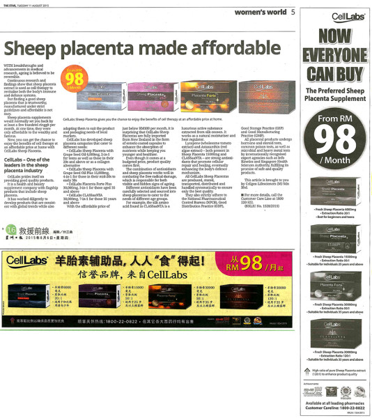 Sheep & Deer Placenta product comparison in Malaysia
